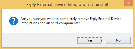 uninstallation confirmation dialog